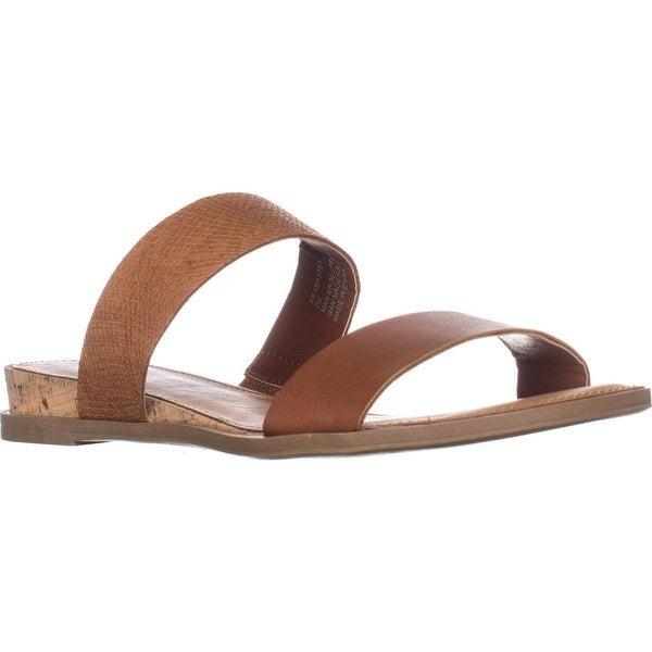 AR35 Easten Flat Two Strap Sandals, Brown