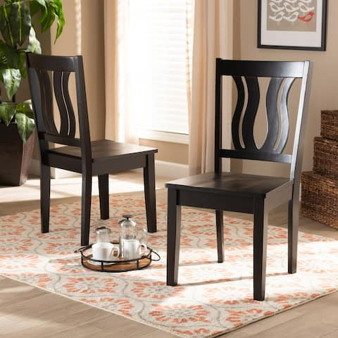 Fenton Mid-Century Modern 2-Piece Dining Chair Set