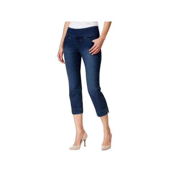 89fc17a9655499 Shop Jag Jeans Womens Cropped Jeans Skinny Fit Pull On - Free Shipping On Orders  Over  45 - Overstock - 22640609