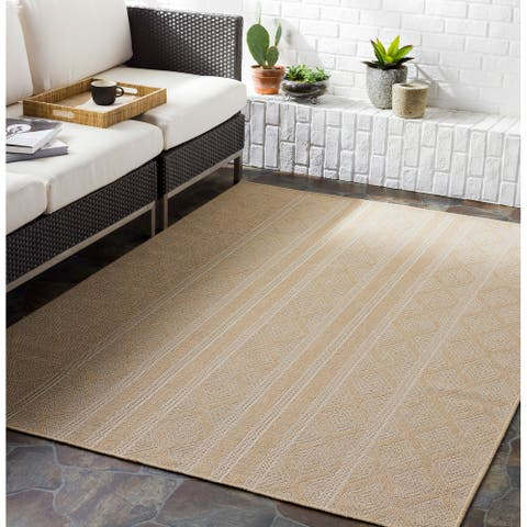 Daryl Indoor/ Outdoor Tribal Stripe Area rug