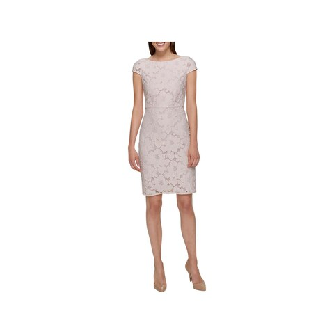 Tommy Hilfiger Womens Party Dress Lace Knee-Length