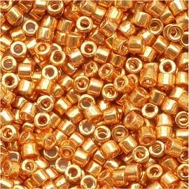 Miyuki Delica Seed Beads 11/0 Galvanized Yellow Gold DB410 7.2 GR