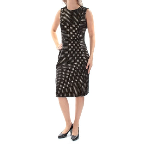 066a0895ce47 Shop CALVIN KLEIN  139 Womens New 1424 Black Beaded Sleeveless Sheath Dress  6 B+B - Free Shipping On Orders Over  45 - Overstock - 22640167