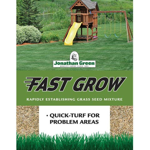 Jonathan Green 10840 Fast Grow Grass Seed Mixture, Up To 3500 Sqft, 7 Lbs