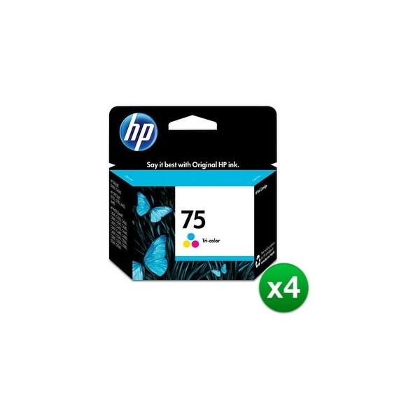 HP 75XL High Yield Tri-color Original Ink Cartridge (CB338WN)(4-Pack)