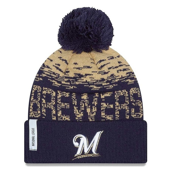 ca583a51b Shop New Era Milwaukee Brewers MLB On Field Sports Knit Stocking Beanie  11212437 - Free Shipping On Orders Over  45 - Overstock - 19449536