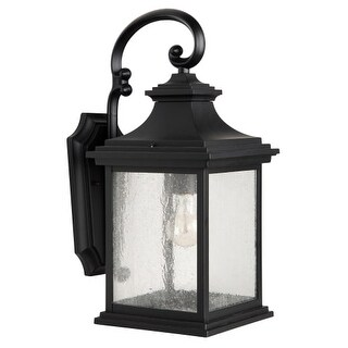 "Craftmade Z3214-11 Gentry Single Light 20-3/8"" High Outdoor Wall Sconce with Clear Seeded Glass"