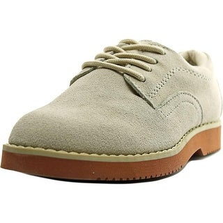 JJ School Buck Youth Round Toe Leather White Oxford