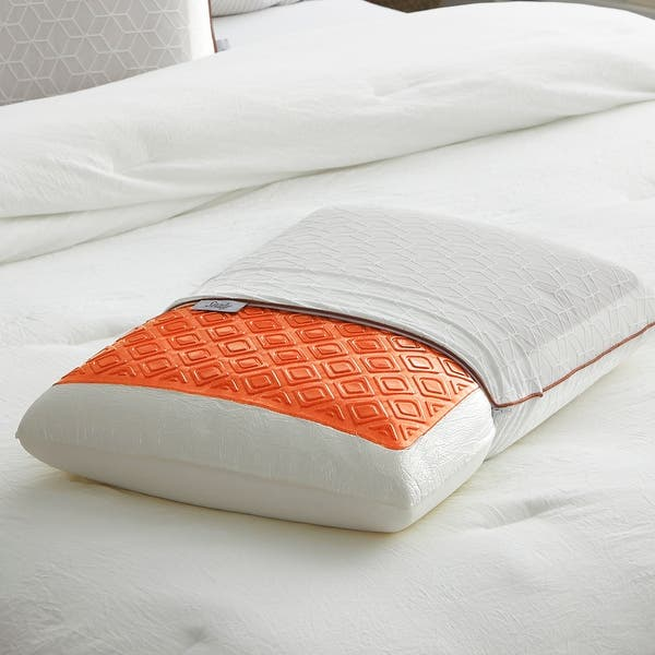Copper Sealychill Gel Memory Foam Bed Pillow With Anti Microbial Cover Overstock 30725374