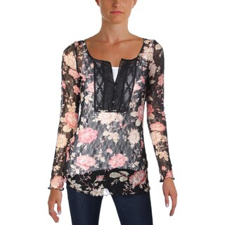 Denim & Supply Ralph Lauren Womens Casual Top Lace Floral Print (2 options available)