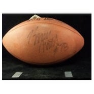 Signed Smith Bruce Official NFL Football Light Signature autographed