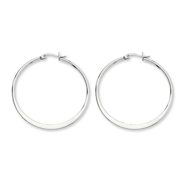 Chisel Stainless Steel 43mm Diameter Hoop Earrings