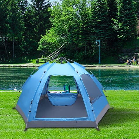 3-4 Person Instant Pop Up Tent Waterproof for Camping Hiking Travel Outdoor Activities