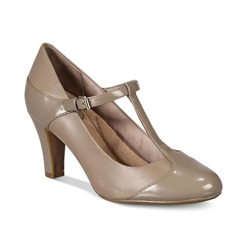 Giani Bernini Womens VINEZA Leather Cap Toe T-Strap Mary Jane Pumps