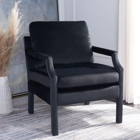 """Safavieh Genoa Upholstered Velvet Arm Chair - 25.8"""" W x 29.1"""" L x 35"""" H"""