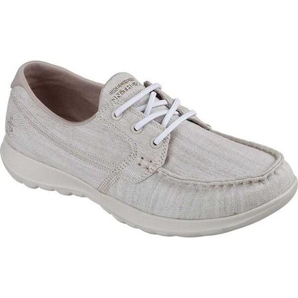 575ab84fa59ae Shop Skechers Women's GOwalk Lite Isla Boat Shoe Taupe - On Sale ...