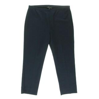 Karen Kane Womens Capri Pants Stretch Flat Front