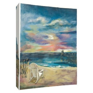 "PTM Images 9-154865  PTM Canvas Collection 10"" x 8"" - ""Beach at Dawn II"" Giclee Beaches Art Print on Canvas"