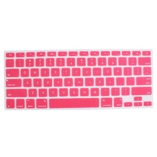 """Unique Bargains Pink Skin Cover Laptop Keyboard Film Protector for Macbook Pro 13"""" 15"""" 17"""" inch"""