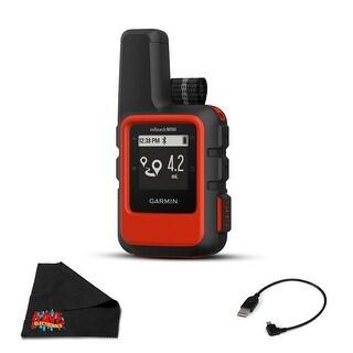 Garmin inReach Mini Satellite Communicator (Orange) Hiking GPS - Bundle with 1 Year Extended Warranty