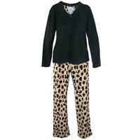 PJ Couture Women's Microfleece Long Sleeve Pajama Set