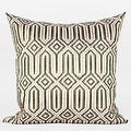 "G Home Collection Luxury Green Classical Geometry Pattern Embroidered Pillow 20""X20"" - Thumbnail 0"