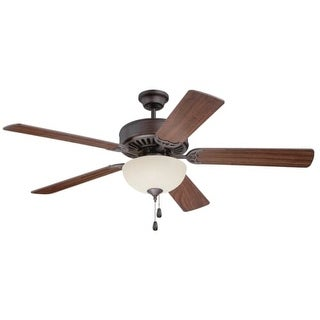 "Craftmade K11201 Pro Builder 202 52"" 5 Blade Indoor Ceiling Fan with Light Kit and Blades Included"