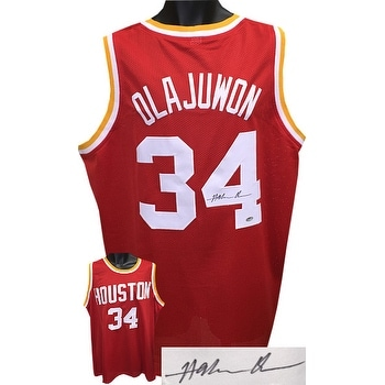 6068599d4 Shop Hakeem Olajuwon signed Red TB Custom Stitched Basketball Jersey XL JSA  Hologram - Free Shipping Today - Overstock - 19868658