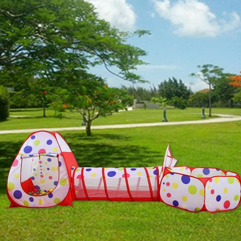 Portable Kids Children Toy Tent Ocean Ball Pit Pool Black Side
