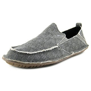 Crevo Rasta Men Round Toe Canvas Gray Loafer