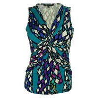 Cable & Gauge Women's Sleeveless Printed Jersey Top - Multi - ps