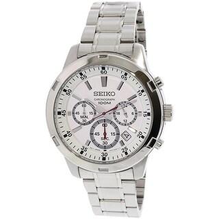 Seiko Men's SKS601 Silver Stainless-Steel Japanese Quartz Fashion Watch