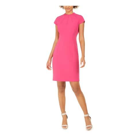 ELIE TAHARI Pink Cap Sleeve Above The Knee Dress 4