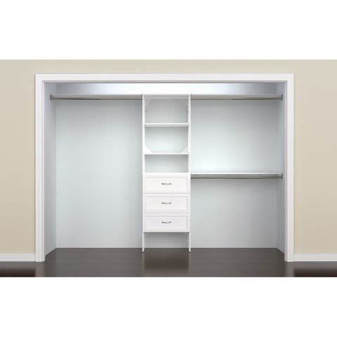 ClosetMaid SuiteSymphony 25 in. Closet Organizer with Shelves and 3 Drawers