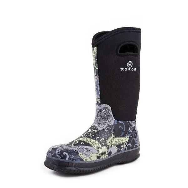 "Roper Outdoor Boots Womens 12"" Barn Muck Paisley"