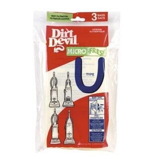 Dirt Devil 3-920750 Type U Vacuum Bag, 3/Pack