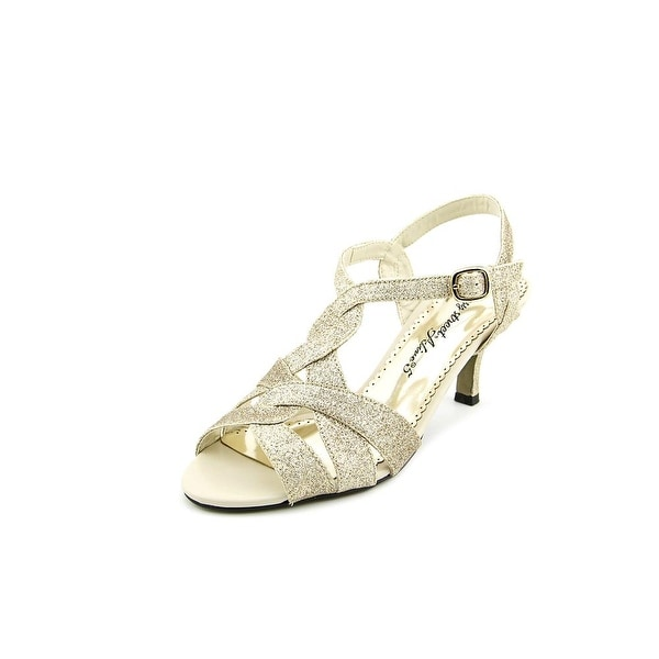 Easy Street Glamorous Women Open Toe Synthetic Gold Sandals