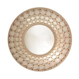 "24.75"" Glamorous Cascading Orbs Silver Framed Round Wall Mirror"