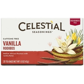 Celestial Seasonings Tea Madagascar Vanilla Red Caffeine Free Rooibos Tea 20 ea
