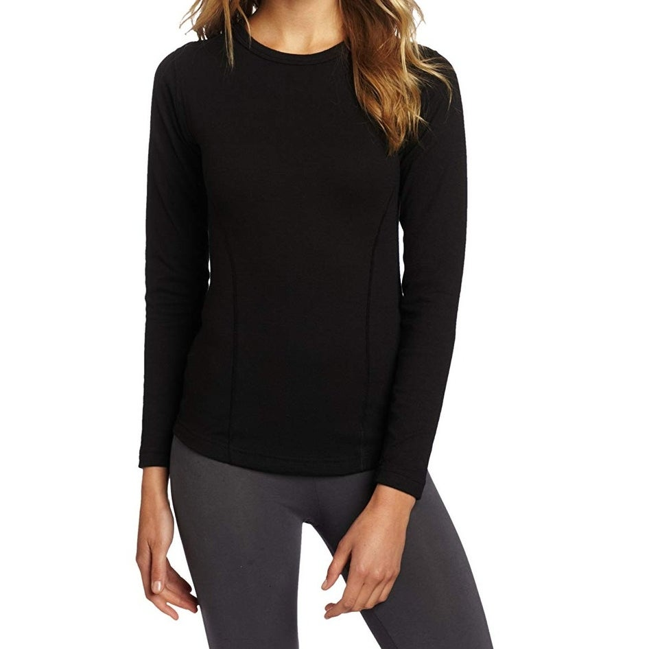 3208d5bc Shop Duofold Black Women's Size Small S Crew Neck Thermal Knit Top - On  Sale - Free Shipping On Orders Over $45 - Overstock - 27277402