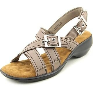 Walking Cradles Lythe Women Open-Toe Leather Slingback Sandal
