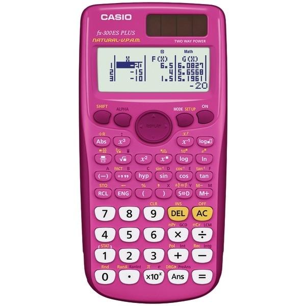 Casio Fx-300Esplus-Pk Fraction & Scientific Calculator (Pink)