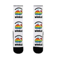 Homosexu-Whale US Size 7-13 Socks by LookHUMAN