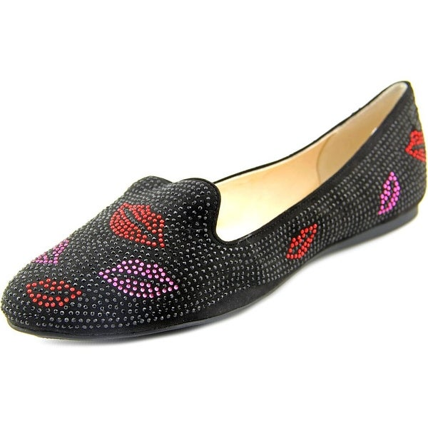 INC International Concepts Galle 13 Women Round Toe Canvas Black Flats
