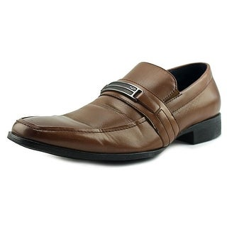 Steve Madden Shoore Men  Apron Toe Leather Brown Loafer