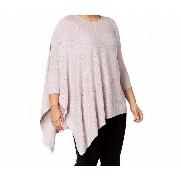 ede13ab68 Shop Anne Klein Purple Women Size 1X Plus Embellished 3/4 Sleeve Sweater -  Free Shipping Today - Overstock.com - 27331120