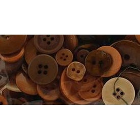 Natural - Button Bonanza .5Lb Assorted Buttons