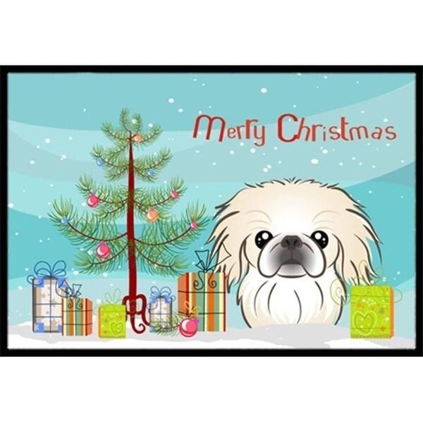Carolines Treasures BB1593MAT Christmas Tree & Pekingese Indoor or Outdoor Mat 18 x 27