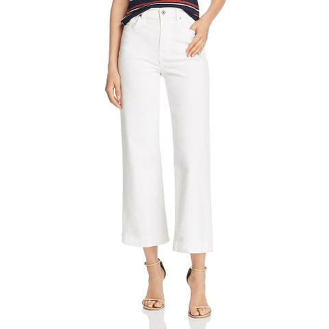 7 For All Mankind Womens Alexa Ankle Jeans Cropped Wide Leg
