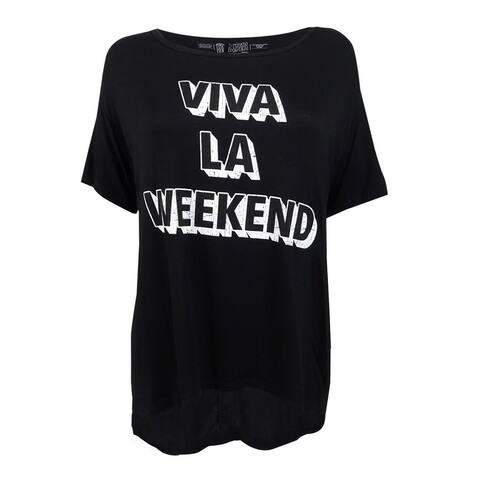 Retro Brand Women's Viva La Weekend Graphic T-Shirt - Black